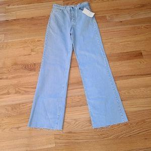 New Zara High Waist Wide Leg Jeans